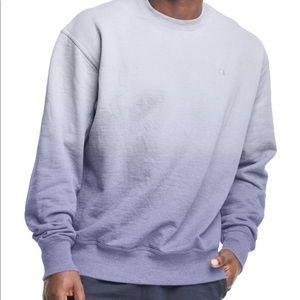 New men teen Champion sweatshirt Fleece Ombre Crew